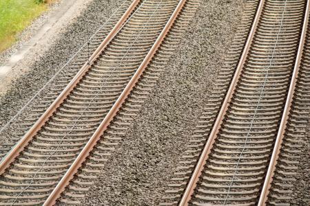 似乎, 跟踪, 阈值, 铁路, 铁路联系, 并行, 铁路线