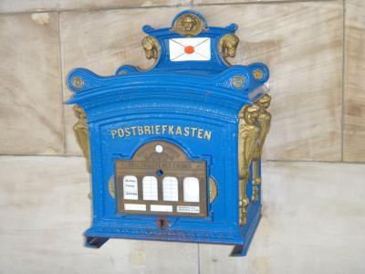 邮箱, 信箱, 老, 复古, 蓝色, 乡村, 怀旧