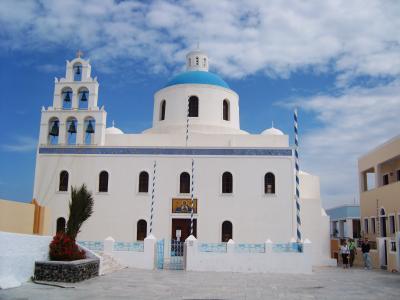 教会, 东正教教会, 希腊, 蓝色, 白色, 岛屿, 基克拉泽斯