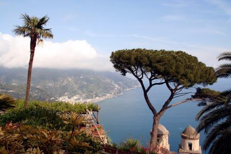 海, 景观, 视图, 悬崖, 阿马尔菲, 拉韦洛, 阿马尔菲海岸