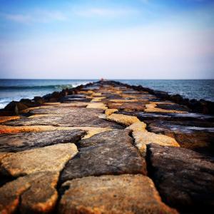 码头, 水, 岩石, 海滩, 海洋, 码头, 夏季