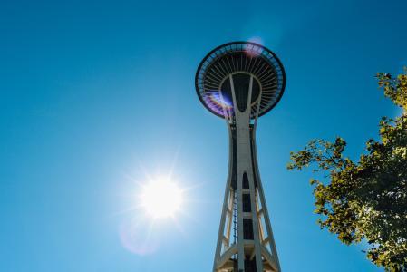 太空针塔, 具有里程碑意义, 城市, 建筑, 天际线, 市中心, 西雅图
