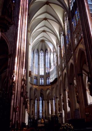 科隆大教堂, 哥特式, 科隆在莱茵河, 建筑, 唱诗班, 教会, 光