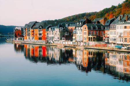 迪南, 比利时, 城市, 城市, 峡湾, 河, 水