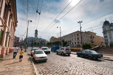 切尔诺夫茨, 城市, 乌克兰, 欧洲, 从历史上看, 市中心, 道路