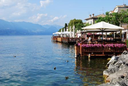 加尔达塔, 湖, 加尔达, 餐厅, 意大利, 水