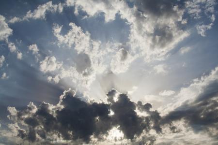 天空, 日落, 云彩, 景观, 加利西亚