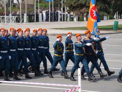 游行, 胜利日, 萨马拉, 俄罗斯, 地区, 委员会俄罗斯, 部队