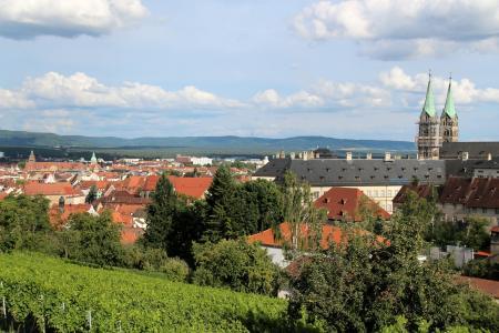 班贝格, 城市景观, 巴伐利亚, 旧城, 浪漫, dom, 德国