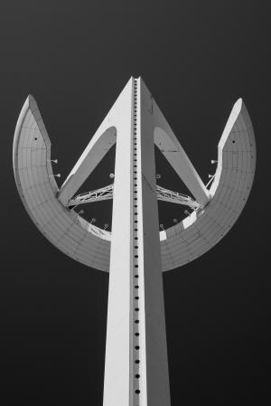 建筑, 黑白, 建设, 高层, 低角度拍摄, 观点, 塔