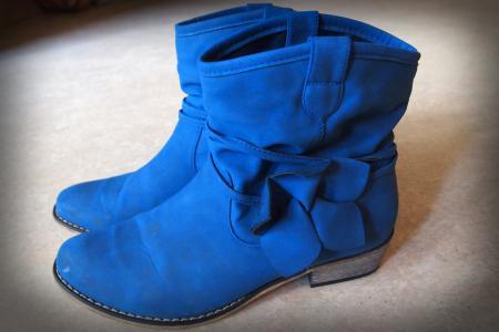 靴子, 学习, 鞋类, 冬天, 蓝色, 弓, 脚跟
