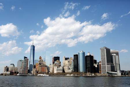 城市, 高层建筑, 曼哈顿, 多层, 多层, 纽约, 纽约城
