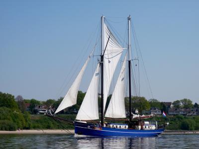 刀具, 海事, 帆船, 易北河, 心情, 夏季, 启动