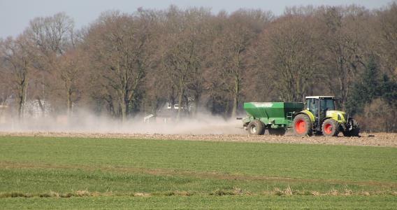 收获, 拖拉机, 农业, 字段, 农民, 框架水果, münsterland