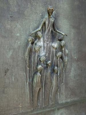 科隆, antonitenkirche, 青铜门, 救灾, 艺术, 耶稣, 祝福