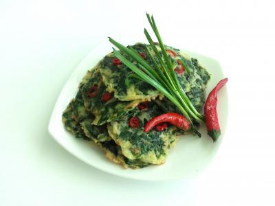 的, buchujeon, 韭菜, 辣椒, 肉丸子, 盛宴, 摘要