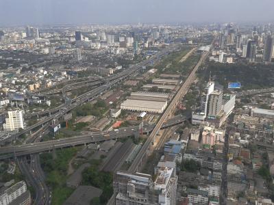 城市, 栈桥, 曼谷, 特大城市, 城市景观, 交通, 街道