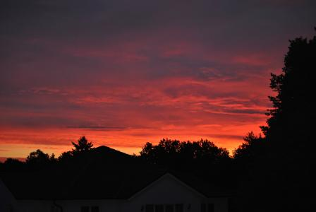 日出, 太阳, morgenrot, 天空, 自然, 心情, 橙色