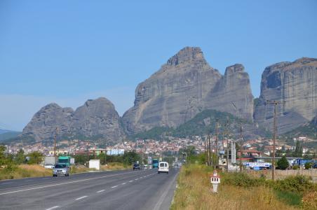 米特奥拉, 希腊, 悬崖, 东正教, 景观, 岩石, 山