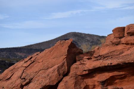 红色的岩石, 沙漠, 砂石, 南西部, 犹他州