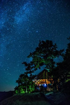天文学, 黑暗, 晚上, 银河, 房子, 光, 自然