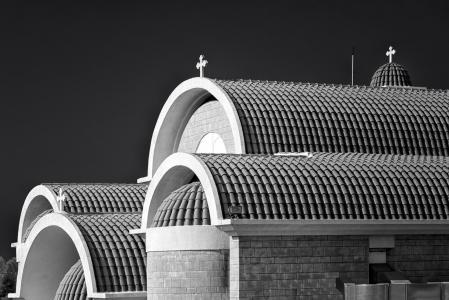 屋顶, 屋顶, 黑色和白色, 塞浦路斯, 建筑, 建设, 家园