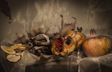 静物, 石榴, 干果, 秋天, 食品, 万圣节