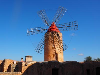 风车, 磨机, 风力发电, algaida, 马略卡岛, 具有里程碑意义, 感兴趣的地方