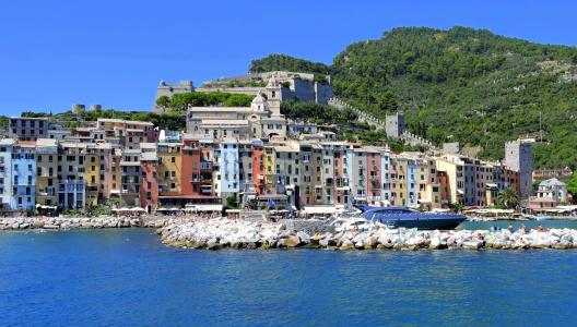 房屋, 颜色, 海, 波尔图 venere, 利古里亚, 意大利, 水