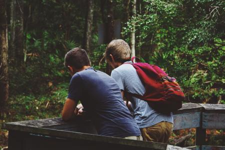 友谊, 自然景观, 户外, 冒险, 徒步旅行, 自然, 景观