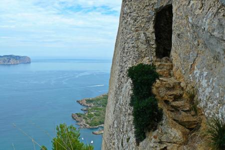 堡垒, 废墟, 线索, 攀爬, bergsteig, 从历史上看, 马略卡岛