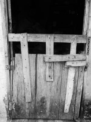 门, 锁, 崩溃, candiado, 礼宾, 门, 老