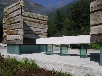 城市家具, 公厕, 挪威, 山, 建筑, 户外