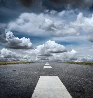 方式, 云彩, 安全带, 方向, 前进的道路, 云的天空, 道路