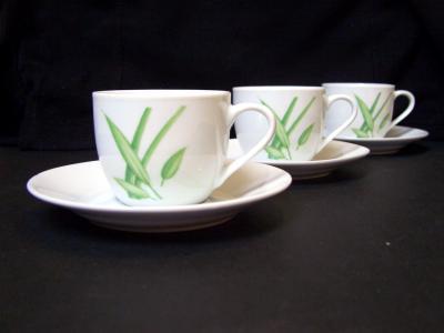 咖啡杯, 对角, 绿色, 白色, 杯, 饮料, 热-温度