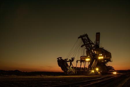 矿用挖掘机, 电动, 斗轮挖掘机, 行走挖掘机, 莫斯科地区, 斗, 身体