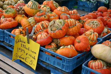 南瓜, 南瓜, 出售, 自然, 蔬菜, 食品, 秋天的动机