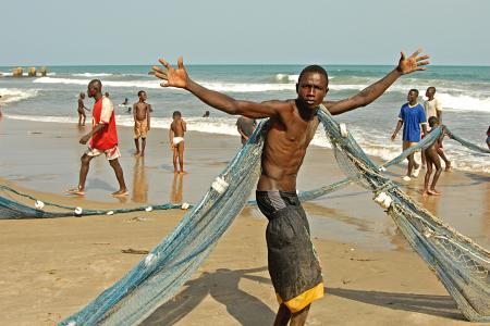 费歇尔, 捕鱼, 海, 非洲, poeople, 男孩, 年轻