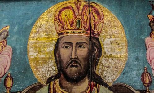 耶和华, 上帝啊, 寺, 木制, 绘画, 教会, 东正教