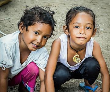 巴厘岛, 儿童, 儿童, 乐趣, 岛屿, 热带, 户外