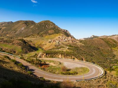 somiedo 公园, somiedo, 西班牙, 道路, 自然, 景观, 山