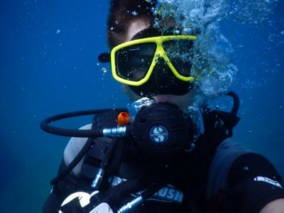 跳水, 潜水员, 水下, 游泳