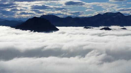 小雪, 山脉, 高山, 自然, 徒步旅行, 登山家, 徒步旅行