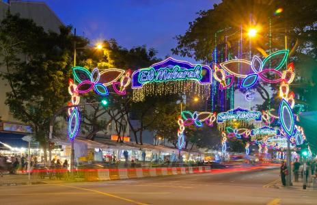新加坡, 斋月, 芽 serai, 节日, 灯, 庆祝活动, 节日