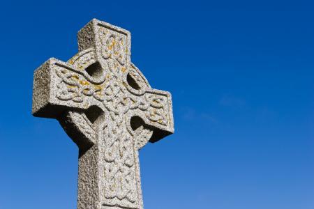 十字架, 凯尔特人, 苏格兰, 天空, 蓝色, 宗教, 基督教