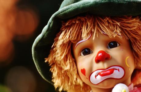 娃娃, 小丑, 悲伤, 多彩, 甜, 有趣, 玩具