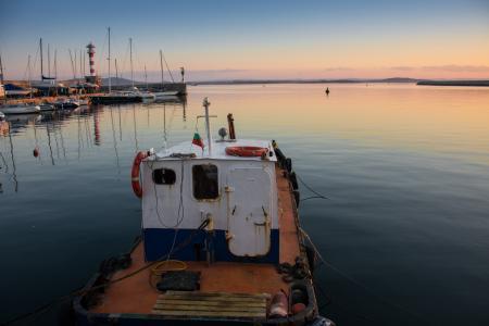 小船, 海, 码头, 水, 蓝色, 海洋, 天空