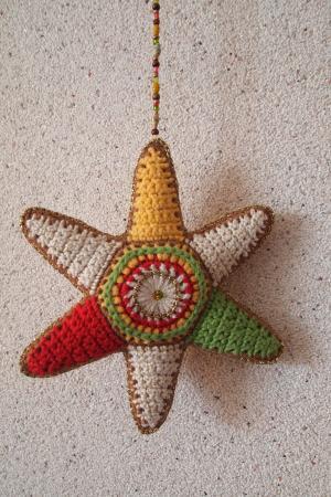 星级, 钩子, 棉花, 颜色, 珠子, 手工制作, 装饰