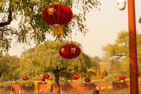 亚洲, 中文, 中国, 灯笼, 花园