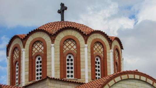 塞浦路斯, 尼科西亚, 教会, 东正教, 圣妈妈, 圆顶, 建筑